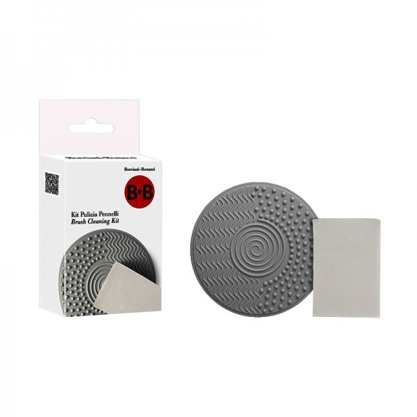 Silicone Pad and Vegetal Mini Soap Kit for Brush Cleansing BeB Series